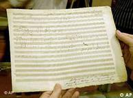 Fragmento da partitura original  da 'Pastoral'