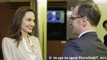 Bundesaussenminister Heiko Maas und UNHCR-Sondergesandte Angelina Jolie (imago images/ Photothek/T. Imo)