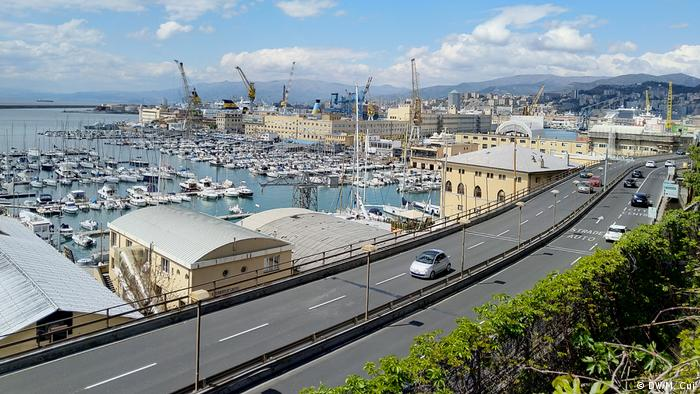 The port of Genova, Italy