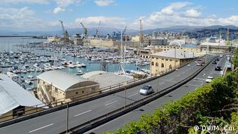 Italien Hafen in Genua (DW/M. Cui)