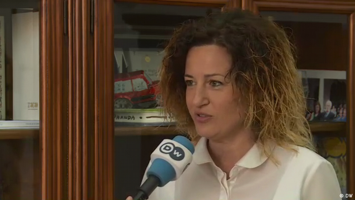 The mayor of Vado Ligure, Monica Giuliano