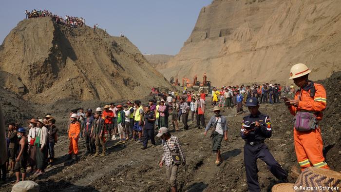 More than 50 jade miners feared dead in Myanmar landslide