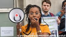 Afrika Pressefreiheit l UK - Protestaktion vor der eritreischen Botschaft in London