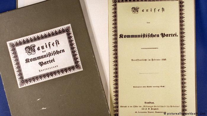 کتاب مانیفست حزب کمونیست، نوشته کارل مارکس و فریدریش انگلس که در سال ۱۸۴۸ میلادی منتشر شد و با فروش تقریبا ۵۰۰ میلیون جلد در رتبه پنجم پرفروشترین کتابهای تاریخ قرار دارد. تز اصلی این کتاب چگونگی سرنگونی سرمایهداری (کاپیتالیسم) با عمل انقلابی طبقه کارگر (پرولتاریا) و حرکت بسوی جامعه بیطبقه است.