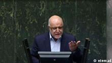 Bijan Zanganeh - iranischer Ölminister im Parlament