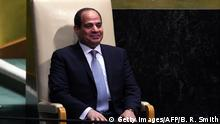 USa New York - UN: Ägyptens Präsident - Abdel Fattah al-Sisi (Getty Images/AFP/B. R. Smith)