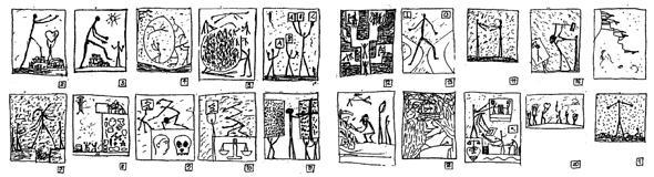 A.R. Penck: Skizzen (Foto: Archiv Jürgen Schweinebraden)