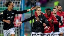 DFB-Pokal: Hamburger SV v RB Leipzig Forsberg Jubel