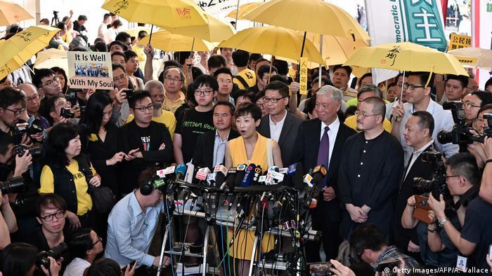 Hongkong Justiz l Demokratie-Aktivisten in Hongkong zu Haftstrafen verurteilt (Getty Images/AFP/A. Wallace)