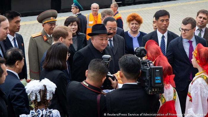 Kim Jong Un at Hasan