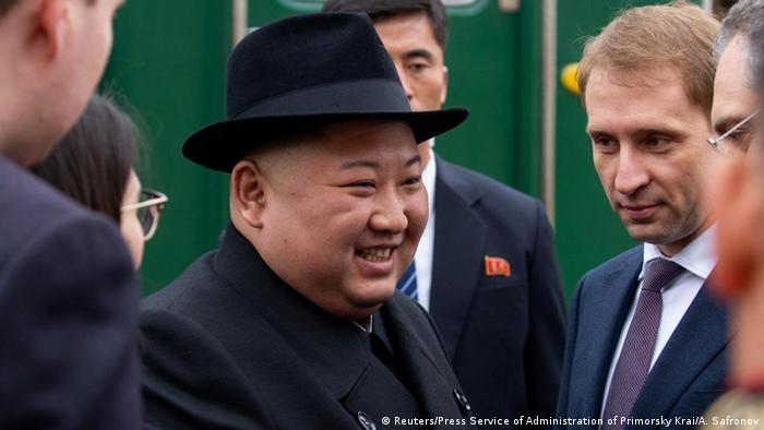 Russland Nordkorea l Treffen von Vladimir Putin und Kim Jong Un - Ankunft (Reuters/Press Service of Administration of Primorsky Krai/A. Safronov)