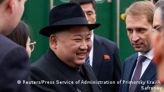 Russland Nordkorea l Treffen von Vladimir Putin und Kim Jong Un - Ankunft