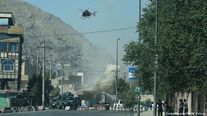 Luftangriff des afghanischen Militärs im August 2018 in Kabul