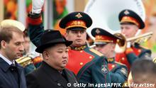 Russland Wladiwostok - Kim Jong Un erreicht den Bahnhof in Wladiwostok