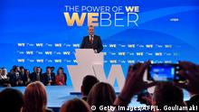 European Peoples Party candidate for the EU parliament, Germany's Manfred Weber, delivers a speech at the Zappion Hall in Athens on April 23, 2019. - Weber is in athens to lauch of his campaign for the European Parliament elections scheduled for May 23-26th. (Photo by LOUISA GOULIAMAKI / AFP) (Photo credit should read LOUISA GOULIAMAKI/AFP/Getty Images)