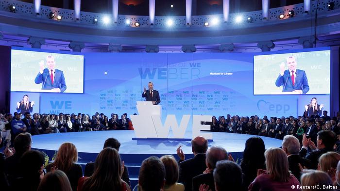 Griechenland Athen - Manfred Weber der CSU und EPP-Kandidat für die Europawahl bei Rede