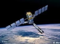 Ilustración del satélite SMOS en órbita.