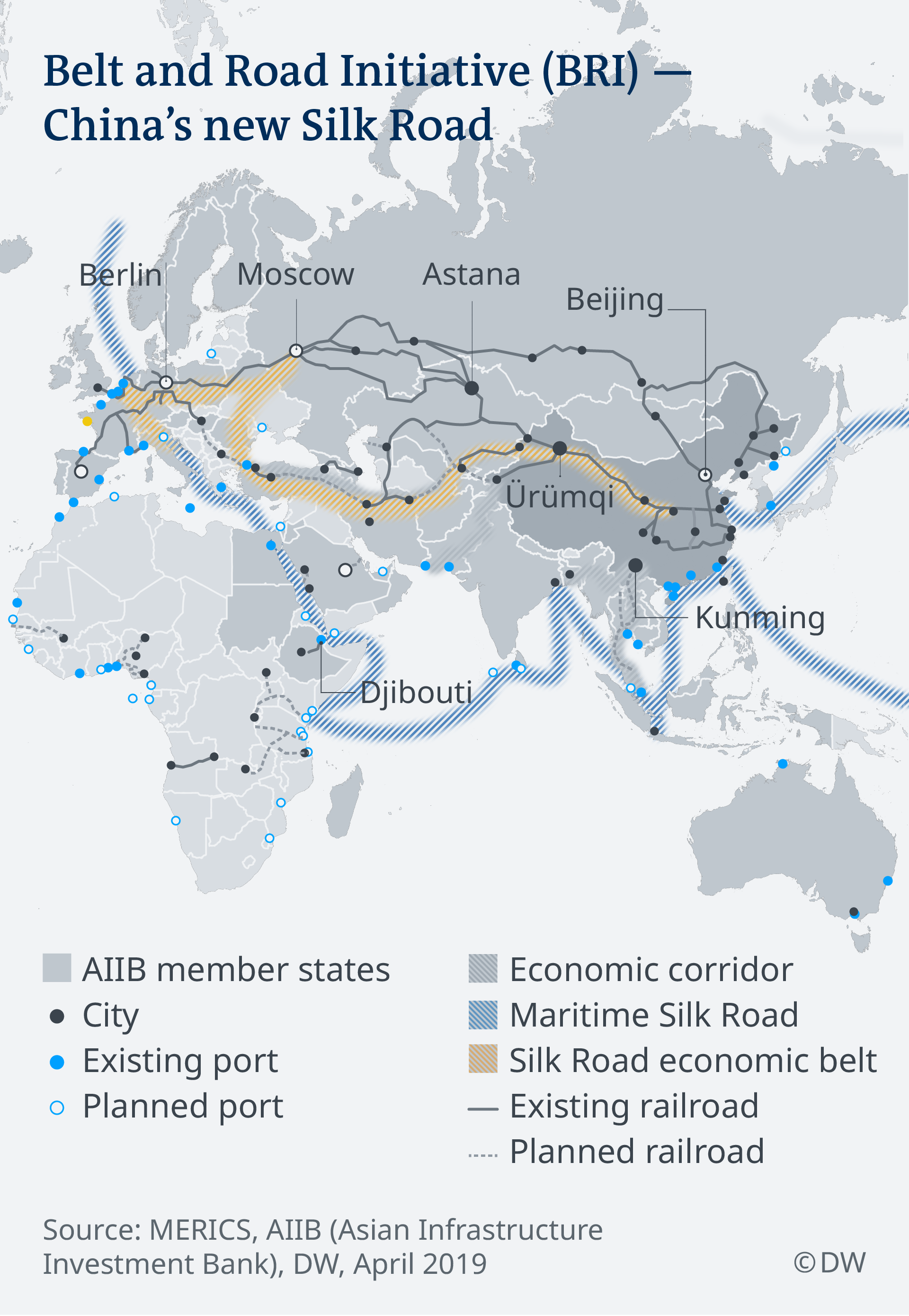A map of China's new Silk Road