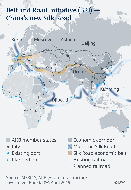 Χάρτης: Ο νέος Δρόμος του Μεταξιού