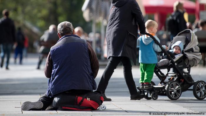 Sachsen — Bettler in der Innenstadt