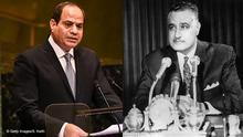 Bildkombo Ägypten Präsidenten   Abdel Fattah al-Sisi & Gamal Abdel Nasser