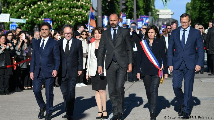 Prime Minister Philippe leads the delegation for the first national memorial day