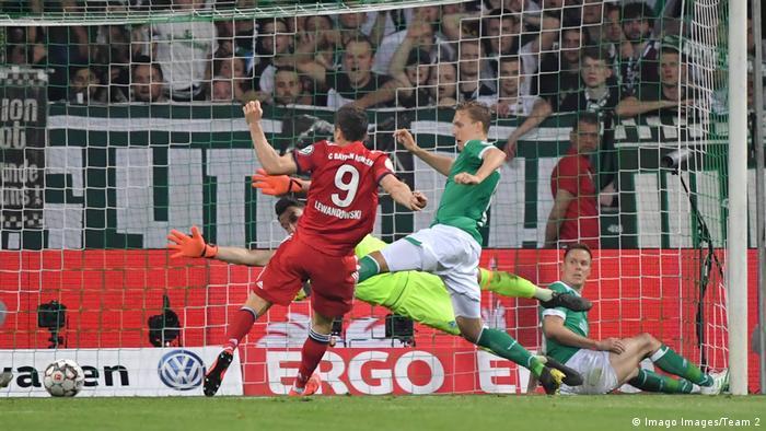 DFB-Pokal 2018/19 Halbfinale | Werder Bremen vs. FC Bayern München | TOR München (Imago Images/Team 2)