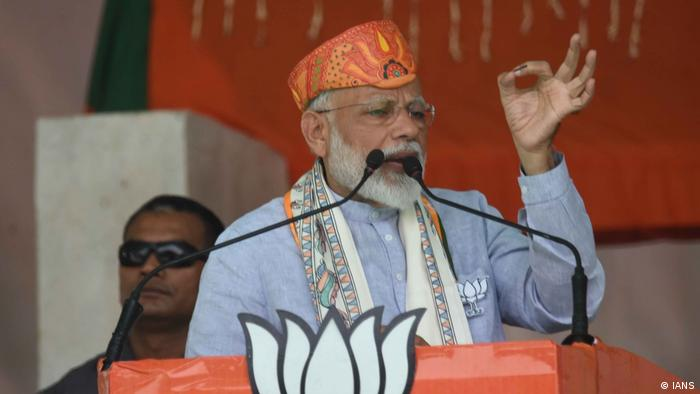 Prime Minister Narendra Modi speaks at a rally in Darbhanga