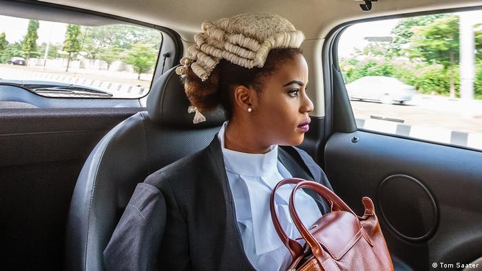 Ginika is on her way to join thousands of Nigerian law graduates being called to the bar in Abuja, Nigeria (Tom Saater)