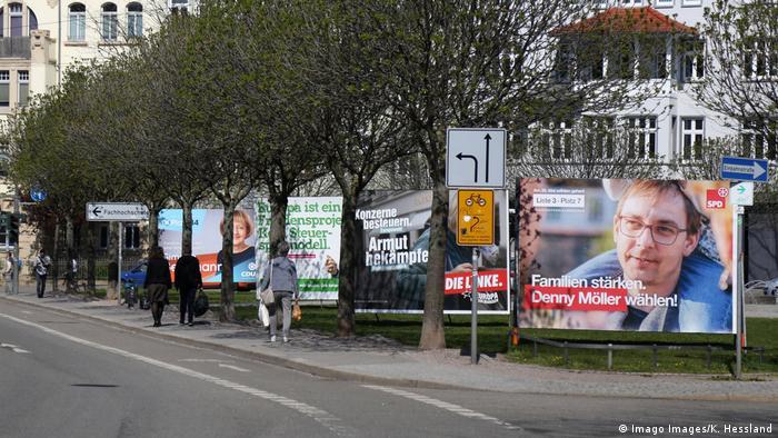 Предвыборная агитация в Эрфурте