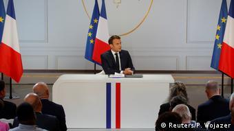 Frankreich Paris   Präsident Emmanuel Macron - Antwort auf Gelbwesten-Proteste