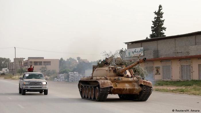Libyen Kämpfe um Tripolis (Reuters/H. Amara)