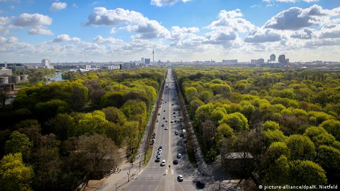 Aerial view of Berlin and its gorgeous trees