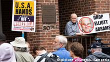 USA, Washinton: Proteste vor der Botschaft Venezuelas (picture-alliance/A. Samperio)