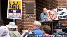 USA, Washinton: Proteste vor der Botschaft Venezuelas