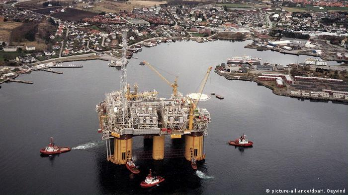 Una plataforma petrolera en Noruega.