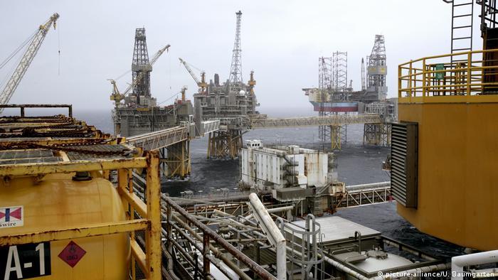 Нефтегазовые буровые платформы в Норвегии