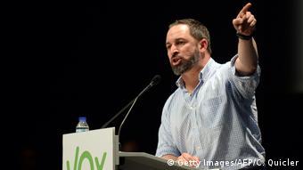 Spanien Sevilla Wahlkampfauftritt von Santiago Abascal