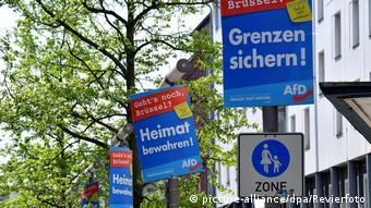 Предвыборные плакаты партии Альтернатива для Германии в Оберхаузене