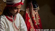 Kinderehe Kinderbräute Braut und Bräutigam Hochzeit Kinderhochzeit