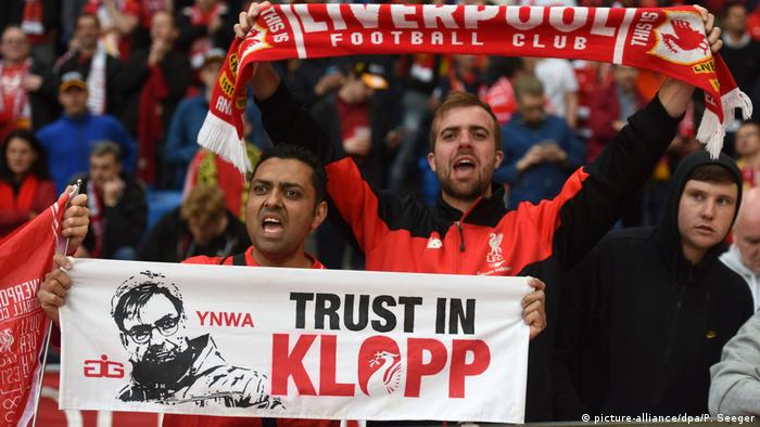 Liverpool fans at the UEFA Europa League final in May 2016
