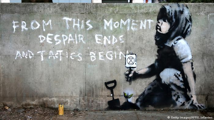 Mutmaßliches Banksy am Marble Arch in London (Getty Images/AFP/I. Infantes)