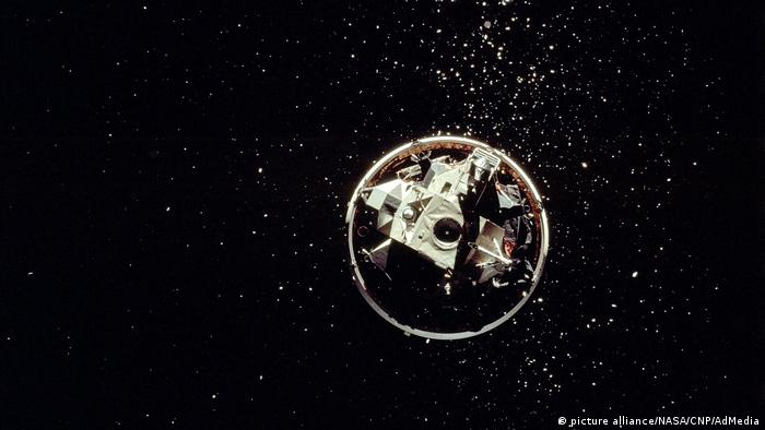 December 1972: the lunar module of the last Apollo 17 spacecraft