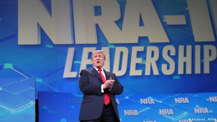 USA Präsident Donald Trump, Rede vor der NRA in Indianapolis (Reuters/L. Millis)