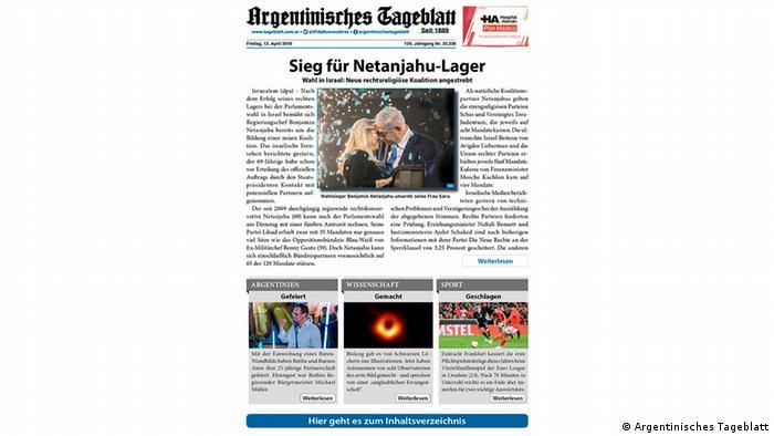 Deutschsprachige Zeitschriften aus Lateinamerika (Argentinisches Tageblatt)