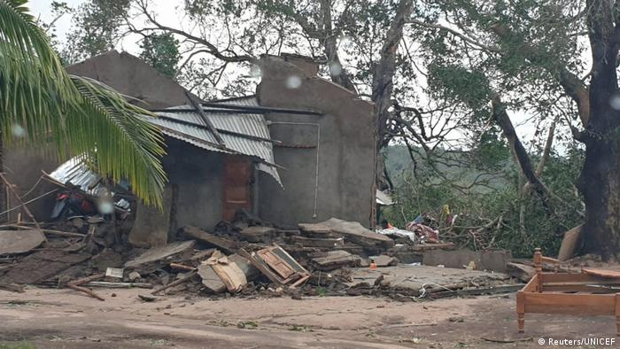 Buildings have been damaged throughout Cabo Delgado province