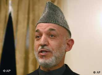 In this Oct. 20 2009 file picture Afghan President Hamid Karzai speaks during a press conference in Kabul, Afghanistan. (AP Photo/Musadeq Sadeq)