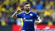Fußball Bundesliga 31. Spieltag l BVB Dortmund vs FC Schalke 04 l Tor 1:3 Jubel (Getty Images/Bongarts/M. Rose)