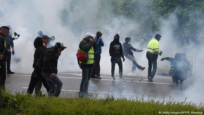 Frankreich Straßburg - Gelbwesten Proteste (Getty Images/AFP/P. Hertzog)