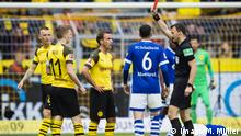 Fußball Bundesliga 31. Spieltag l BVB Dortmund vs FC Schalke 04 l 1:3 Rote Karte für Marco Reus
